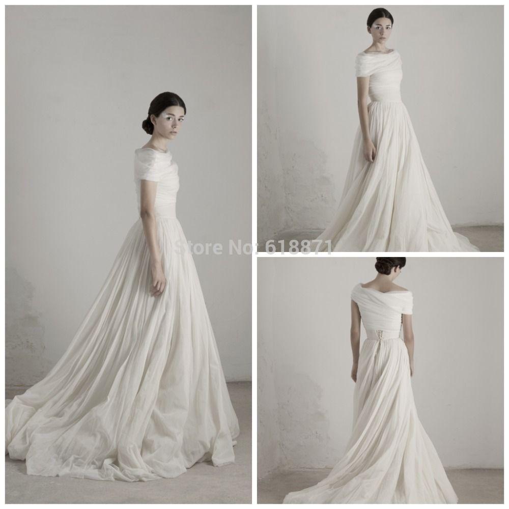 Длиннее шифоновое греческом стиле свадебные платья с коротким