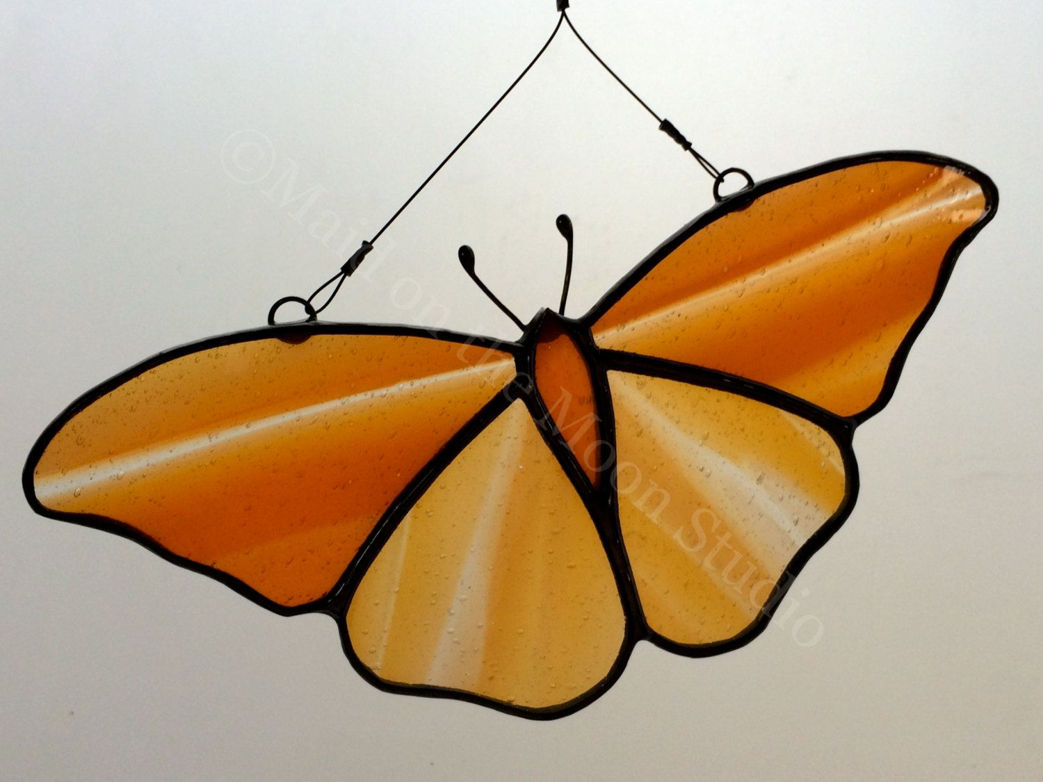 Stained Glass Butterfly by MaidontheMoonGlass on Etsy