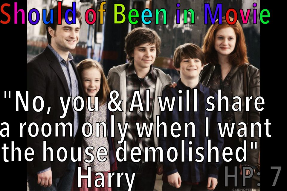 Harry Potter and the Deathly Hallows Should've Been in Movie Harry Ginny James Sirius Albus Severus Lily Luna Ron Hermione Rose Hugo