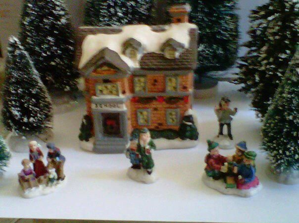 explore christmas villages and more cobblestone cornersschool house