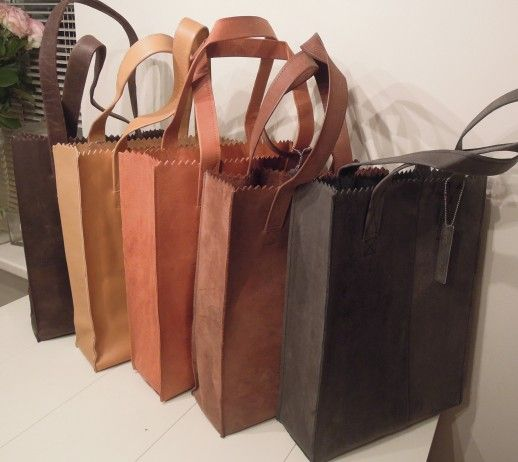 Plastic Tassen Ontwerpen : My paper bag from leather a must have