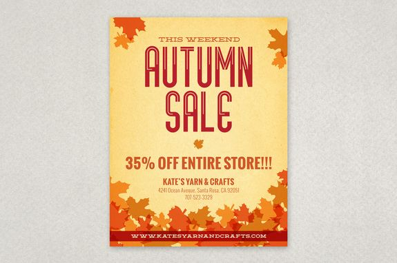 Autumn Leaves Flyer Design Template  Utilize This Attractive