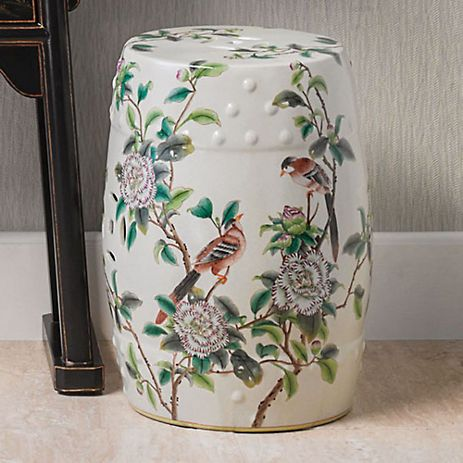 Terrific Songbird Garden Stool Gumps Chinoiserie Ceramic Pabps2019 Chair Design Images Pabps2019Com