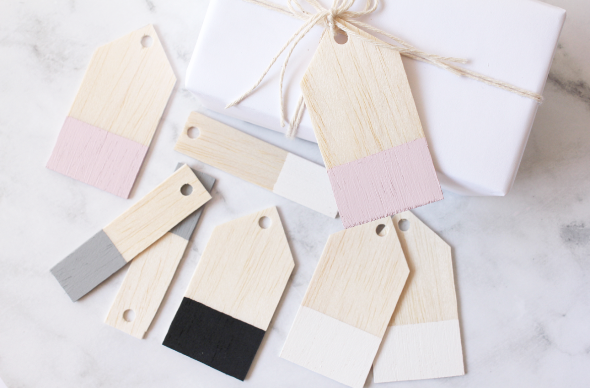 Easy DIY Balsa Wood Gift Tags | Gift Ideas | Wood gifts, Wooden diy