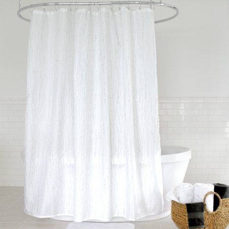 Splash Home Alexa Polyester Fabric Shower Curtain 70 Inch X 72