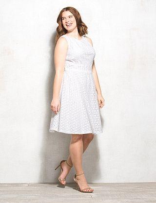 Plus Size Eyelet Dress | Women\'s Fashion 4-15-2015 in 2019 | White ...