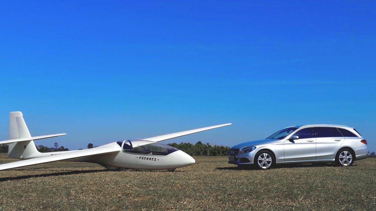 Mercedes-Benz C180 Estate e aeroplanador Puchacz com Juvenal Jorge