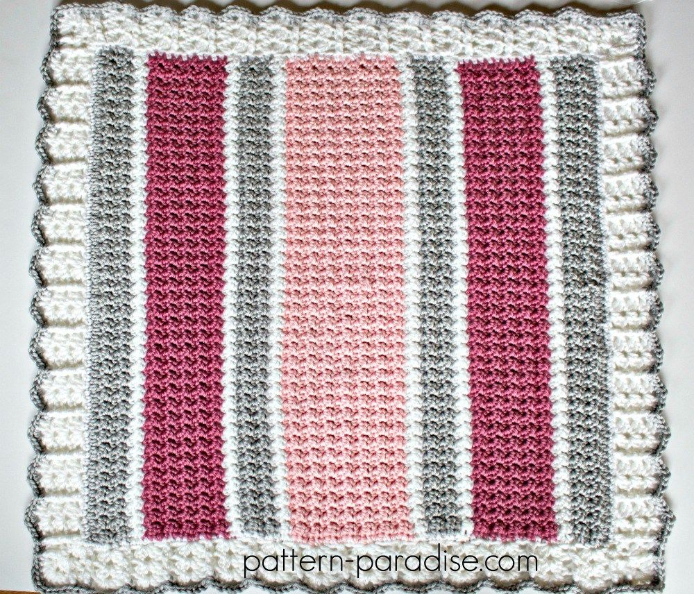 Essentials Baby Blanket Crochet Pattern by Pattern-Paradise.com ...