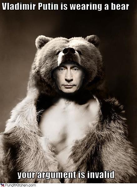 Vladimir Putin Wearing a Bear