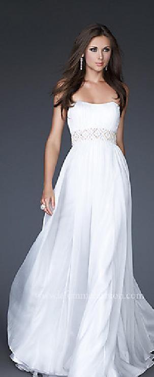 Cute White Sleeveless Sheath Chiffon Prom Dresses Sale tkzdresses15485ser #longdress #promdress