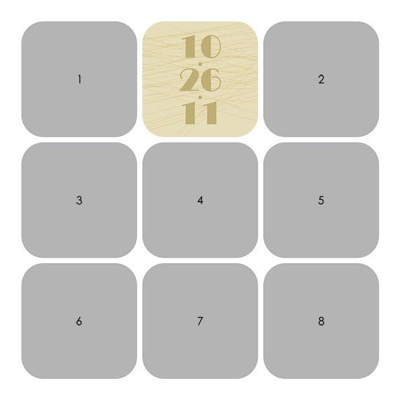 Photo Collage Template 12x12 16x16 20x20 30x30 Storyboard For