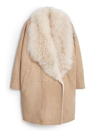 Manteaux d hiver femme - MANGO Premium - Manteau Fourrure Cuir  c034bc24589