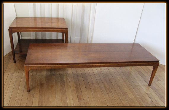 1963 McCobb Lane Rhythm Pair Tables Dark Walnut Wood Coffee & Side ...