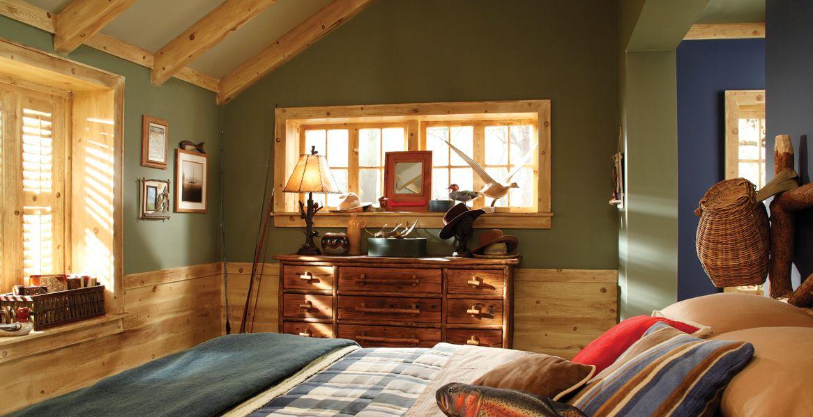 rustic bedroom daily interior design inspiration | Green - Interior Colors - Inspirations | Decorating Ideas ...