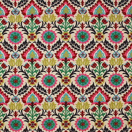 Pindler Fabric Pattern #P1293-LEONORA, color MULTI (ESTRELLA COLLECTION) www.pindler.com (Print Suzani)