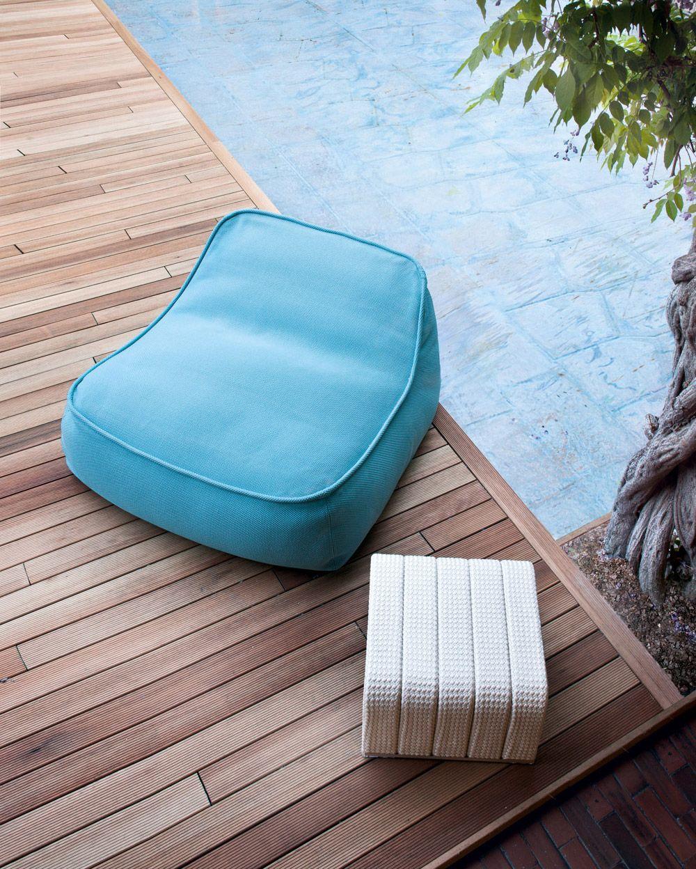 Attirant Paola Lenti Outdoor Pouf Chair   Float   Paola Lenti Dachterrasse, Balkon,  Moderne Lounge