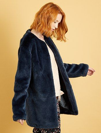 Manteau bleu marine femme kiabi