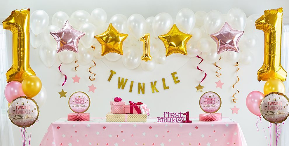 Pink Twinkle Little Star 1st Birthday Party Supplies 50 Off Patterned Tableware MSRP