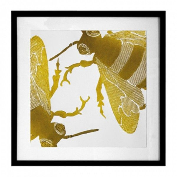 Dermond Peterson Ochre Bee Wall Art Print (1,830 CNY) ❤ liked on ...
