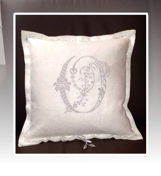 Monogram i korssting! Monogram digitized in 5D Cross Stitcher!