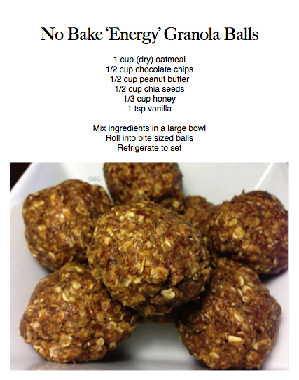 I doubled the recipe and rolled them into about donut hole/ping pong sized balls and got 15. Also, you can use flax seeds in place of chia seeds.