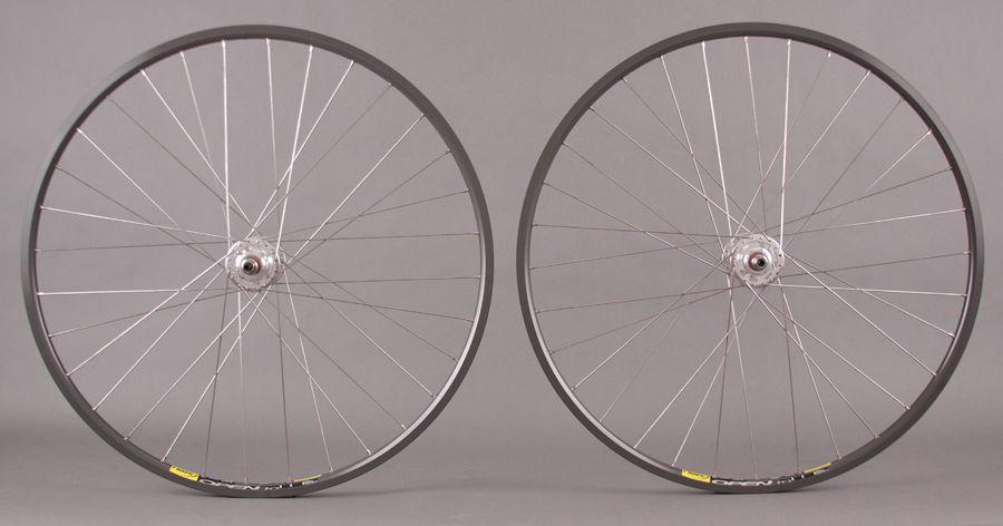 """26/"""" x 2.125/"""" Steel Wheel Set Front /& Rear Coaster 36 Spoke 12g chrome 3//8/"""" Axle"""