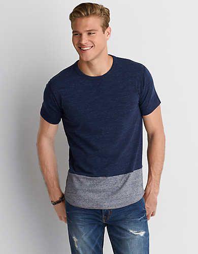 b2c4de34b35 AEO Flex Colorblock T-Shirt