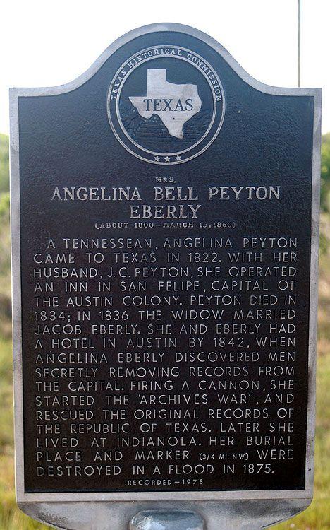 Photo of Angelina Eberly   Texas History Notebook