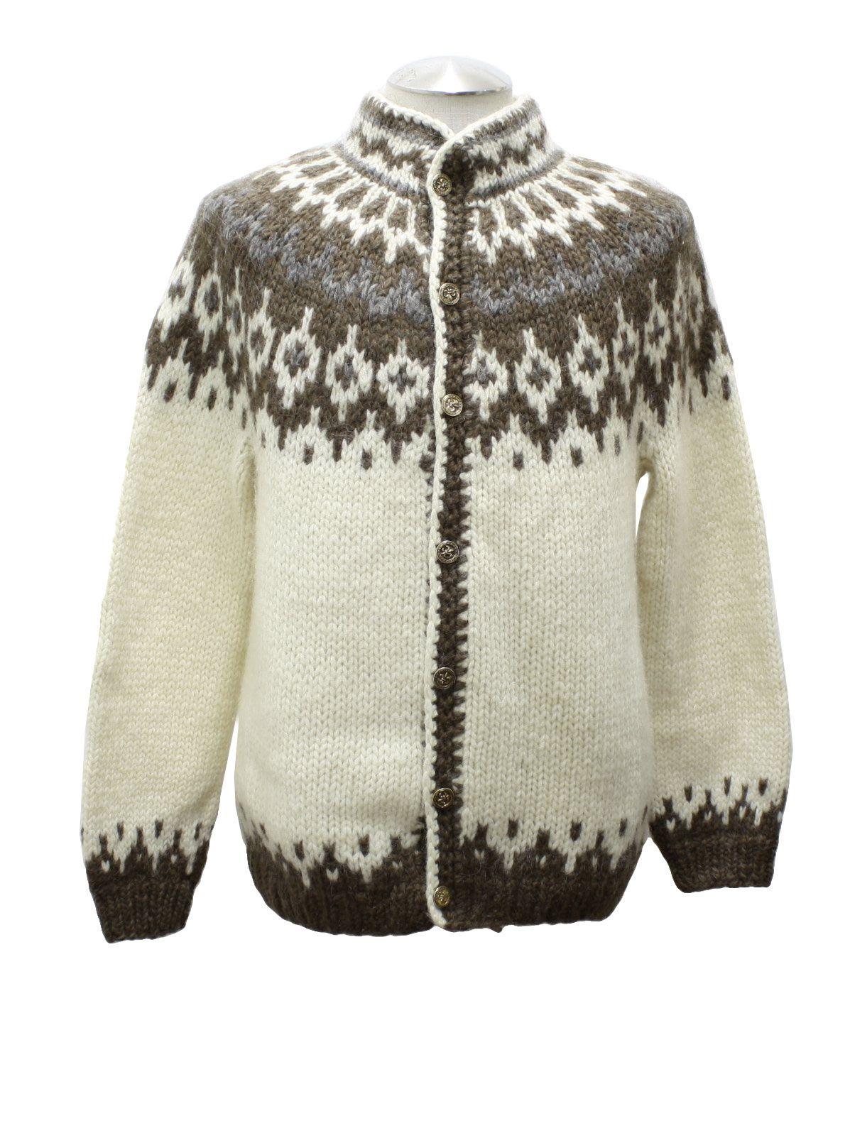 Iceland Sweaters 80's Vintage Caridgan Sweater: 80s vintage ...