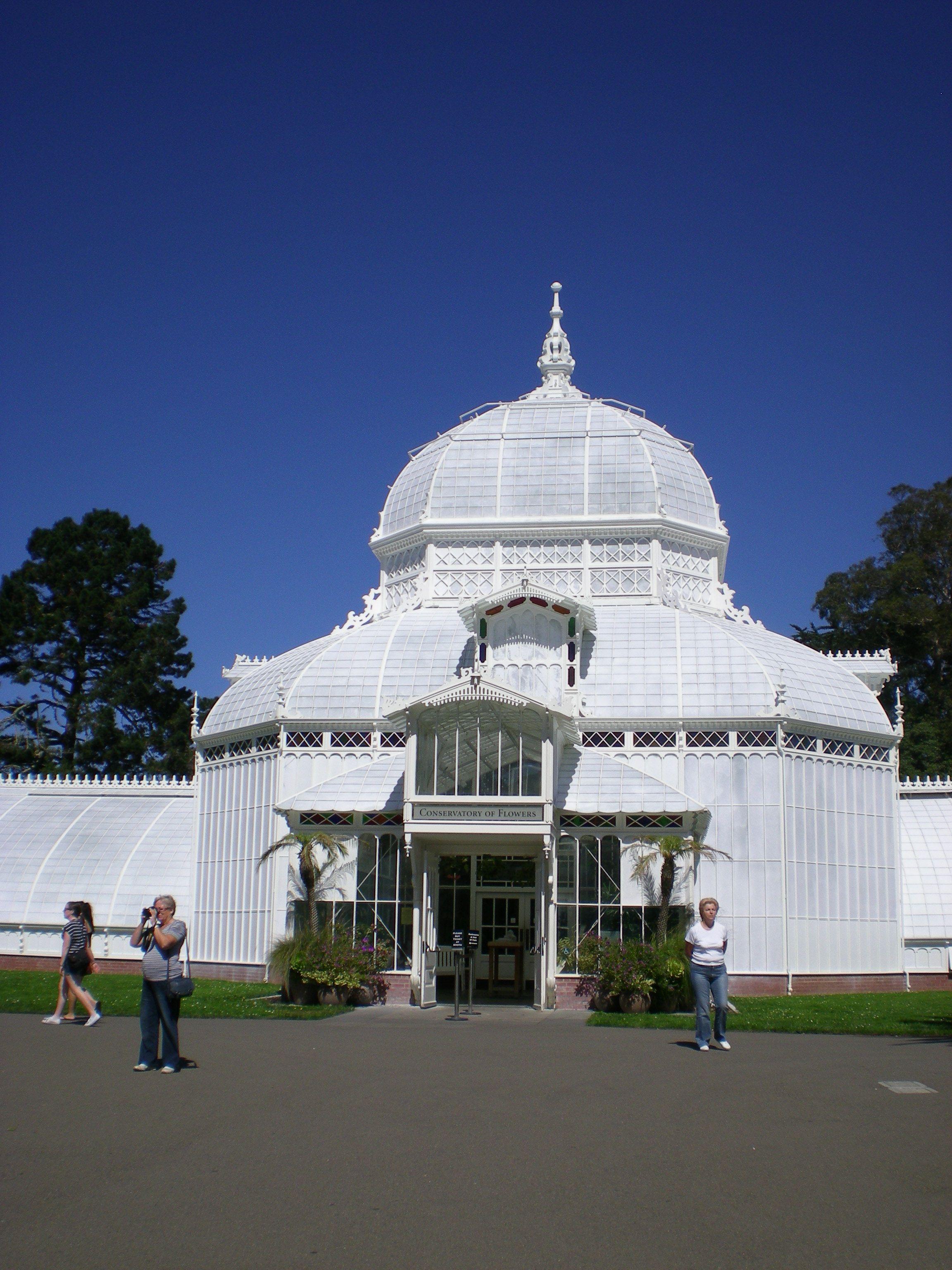 Conservatory Of Flowers At Golden Gate Park San Francisco