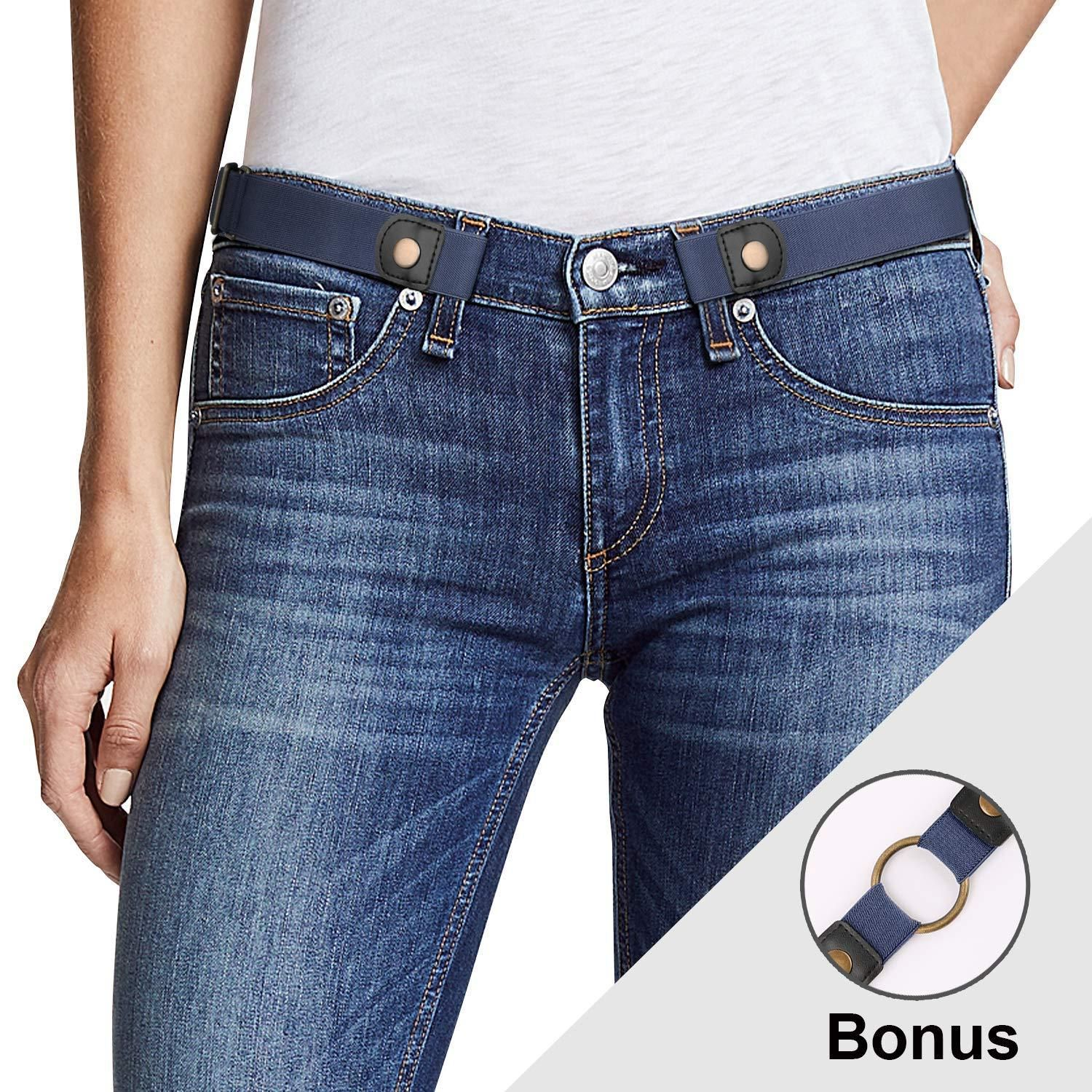 824570cb69 Buckle Free Women Stretch Belt Plus Size No Buckle Show Invisible Belt for Jeans  Pants