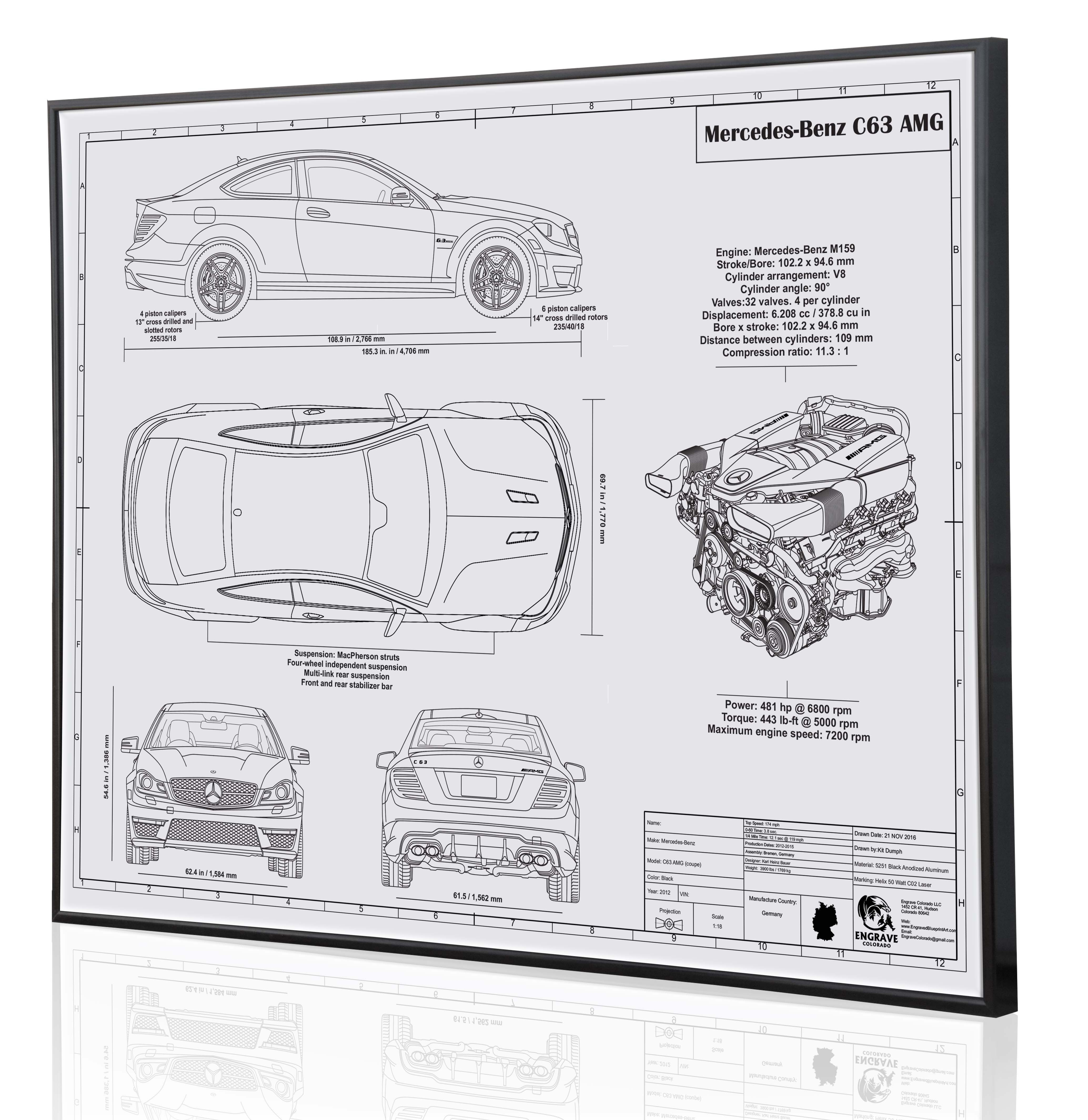 Its about time our first mercedes benz laser engraved blueprint engraved blueprint art specializes in custom drawn and laser engraved blueprint dcor for your garage man cave business or office auto art plane art malvernweather Gallery