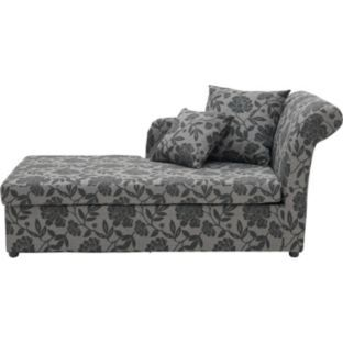buy floral fabric chaise longue sofa bed   charcoal at argos co uk   buy floral fabric chaise longue sofa bed   charcoal at argos co uk      rh   pinterest co uk