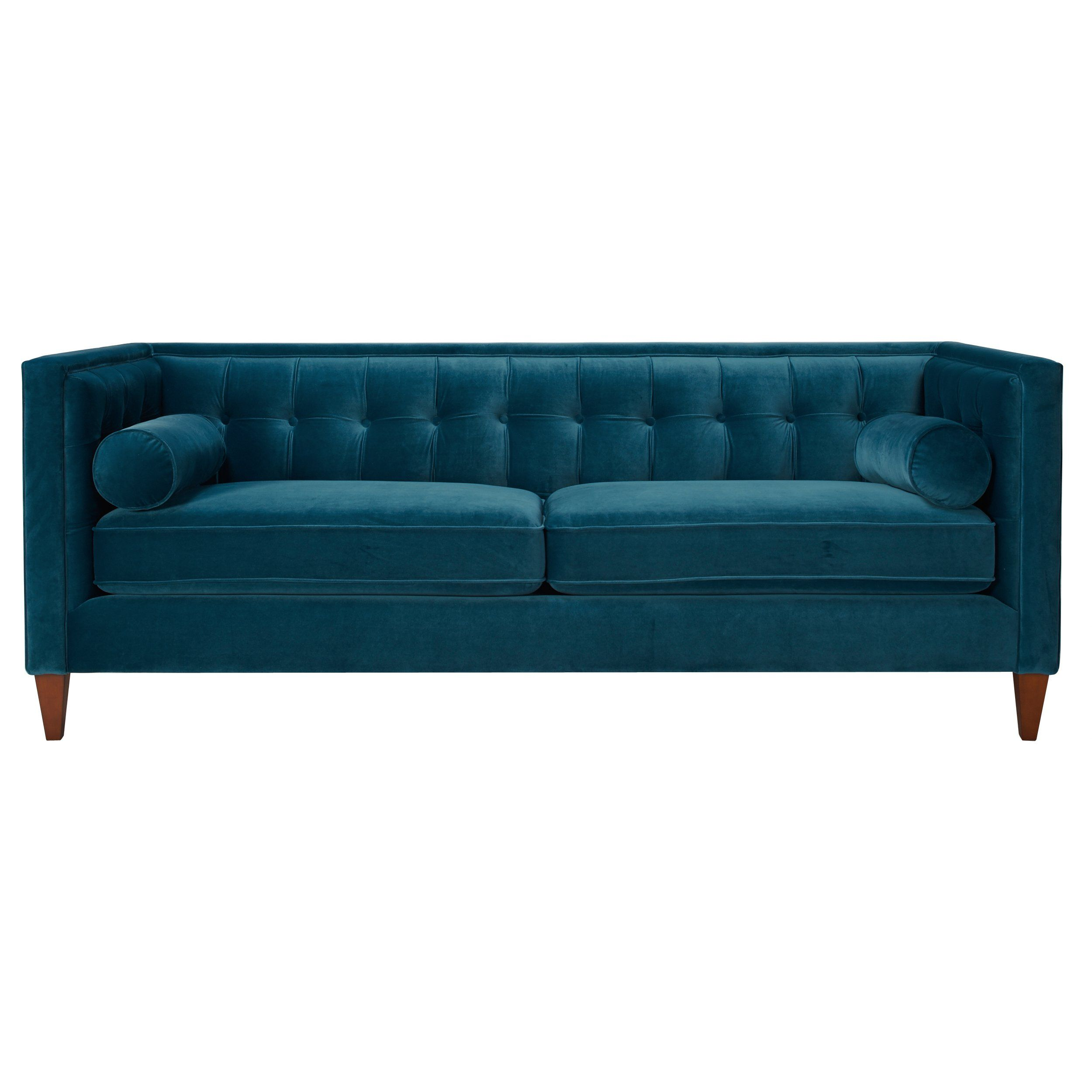 Mercer41 Sprimont Tufted Sofa In Teal Reviews Wayfair
