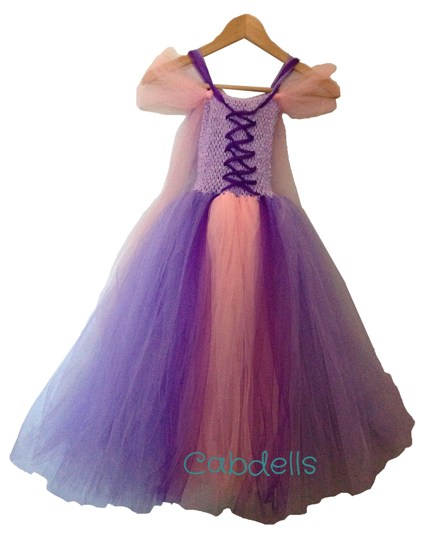 a26feb572 Disfraz Rapunzel con falda de tul