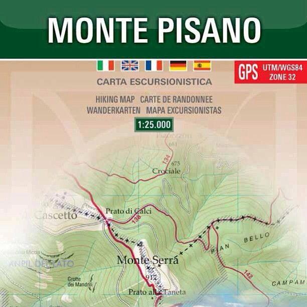 La nuova carta 1:25.000 dei sentieri del Monte Pisano