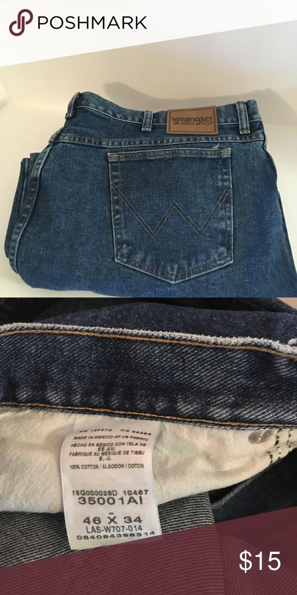 5b397b6a Wrangler Jeans Size 46W 34L Men's Wrangler Jeans 46W 34L Used But In Great  Shape Wrangler Jeans Straight