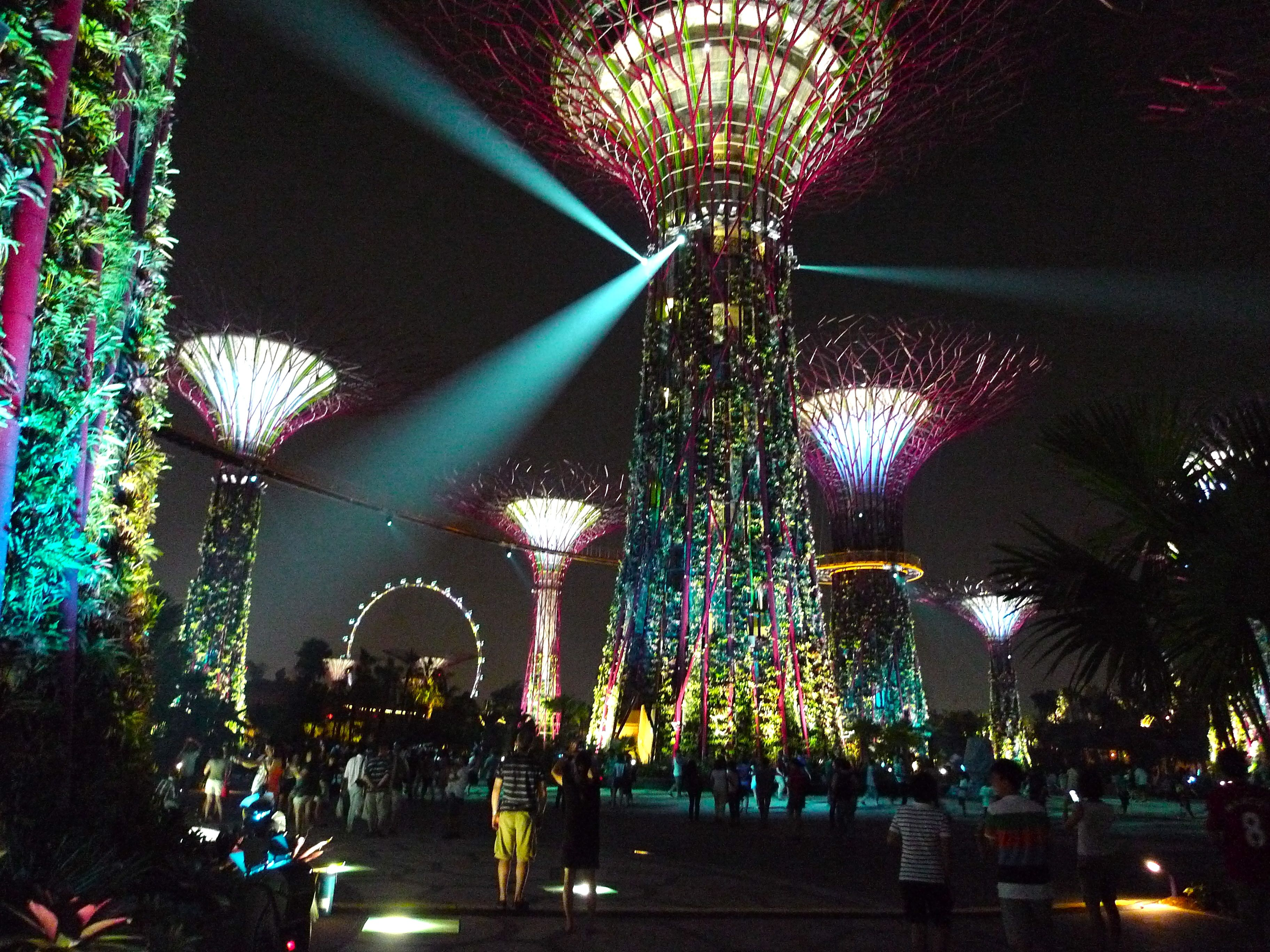 super trees gardens by the bay singapore every evening for fifteen minutes the - Garden By The Bay Music