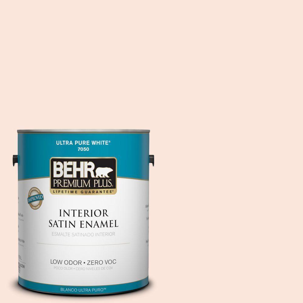 BEHR Premium Plus 1-gal. #240A-1 Parfait Zero VOC Satin Enamel Interior Paint