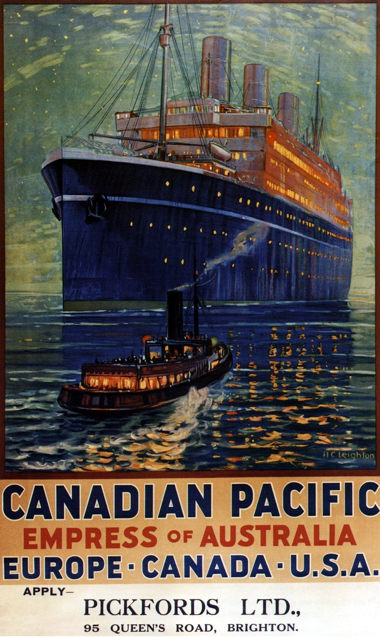 Canadian pacific vintage ad poster HARRY H RODMELL Canada 24X36 HIGHLY PRIZED