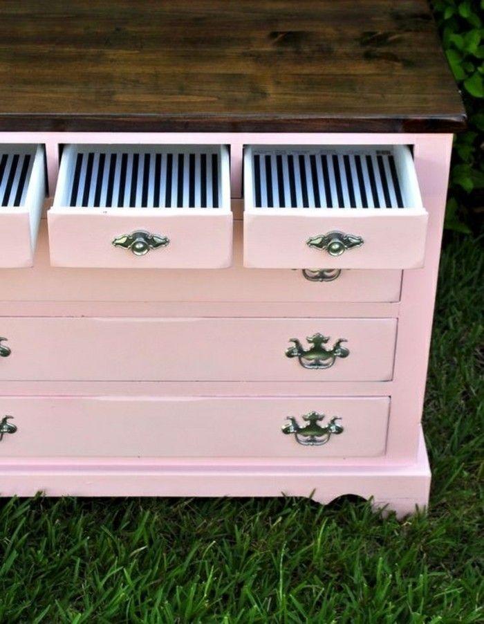 Vintage möbel weiss rosa  ▷ 1001+ Ideen, wie Sie alte Möbel aufpeppen können | Pinterest ...