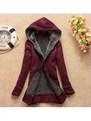 Wool Blend Hooded Quilted Jacket