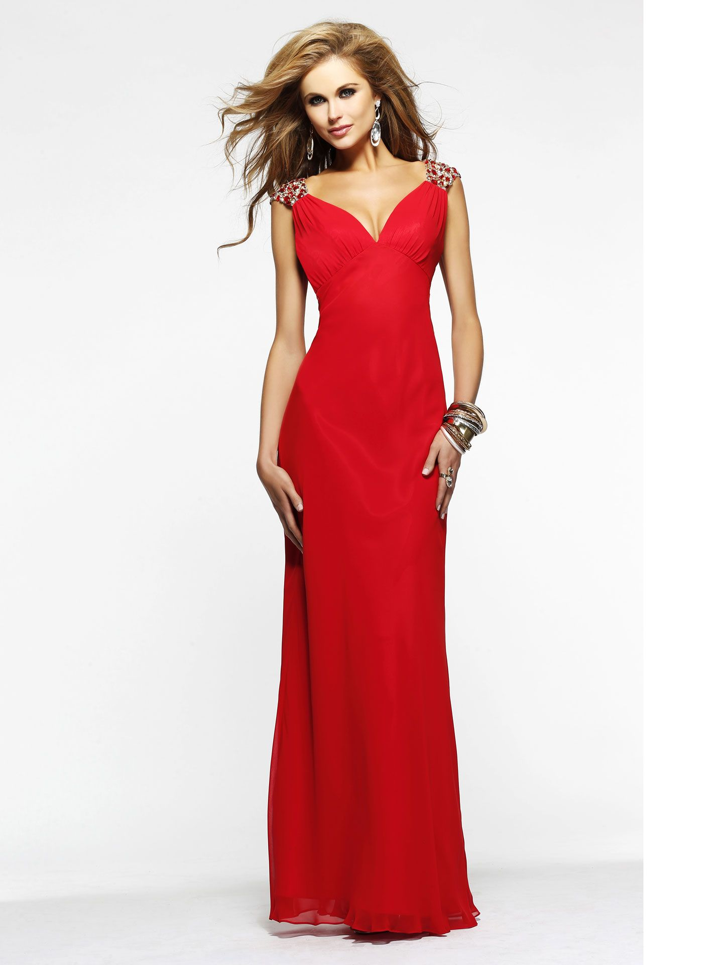 red prom dresses inspired by the dancing lady emoji prom