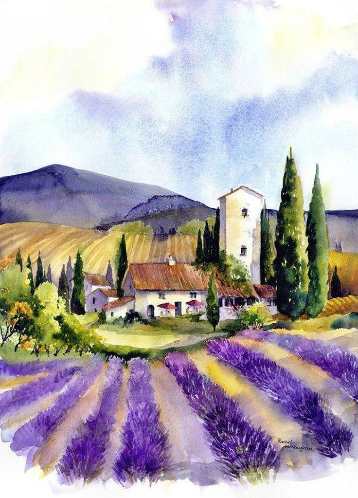 Tuscany By Rachel Mcnaughton Mit Bildern Landschaftsbilder