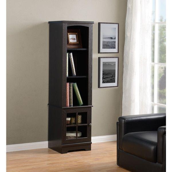 Homestar Zarate Brown Wood Bookcase/Media Storage Pier