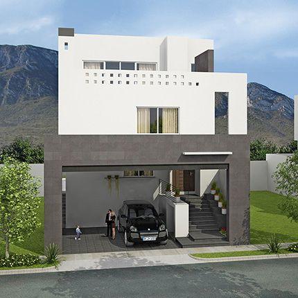Fotos e im genes de fachadas de casas minimalistas o for Casas estilo colonial moderno