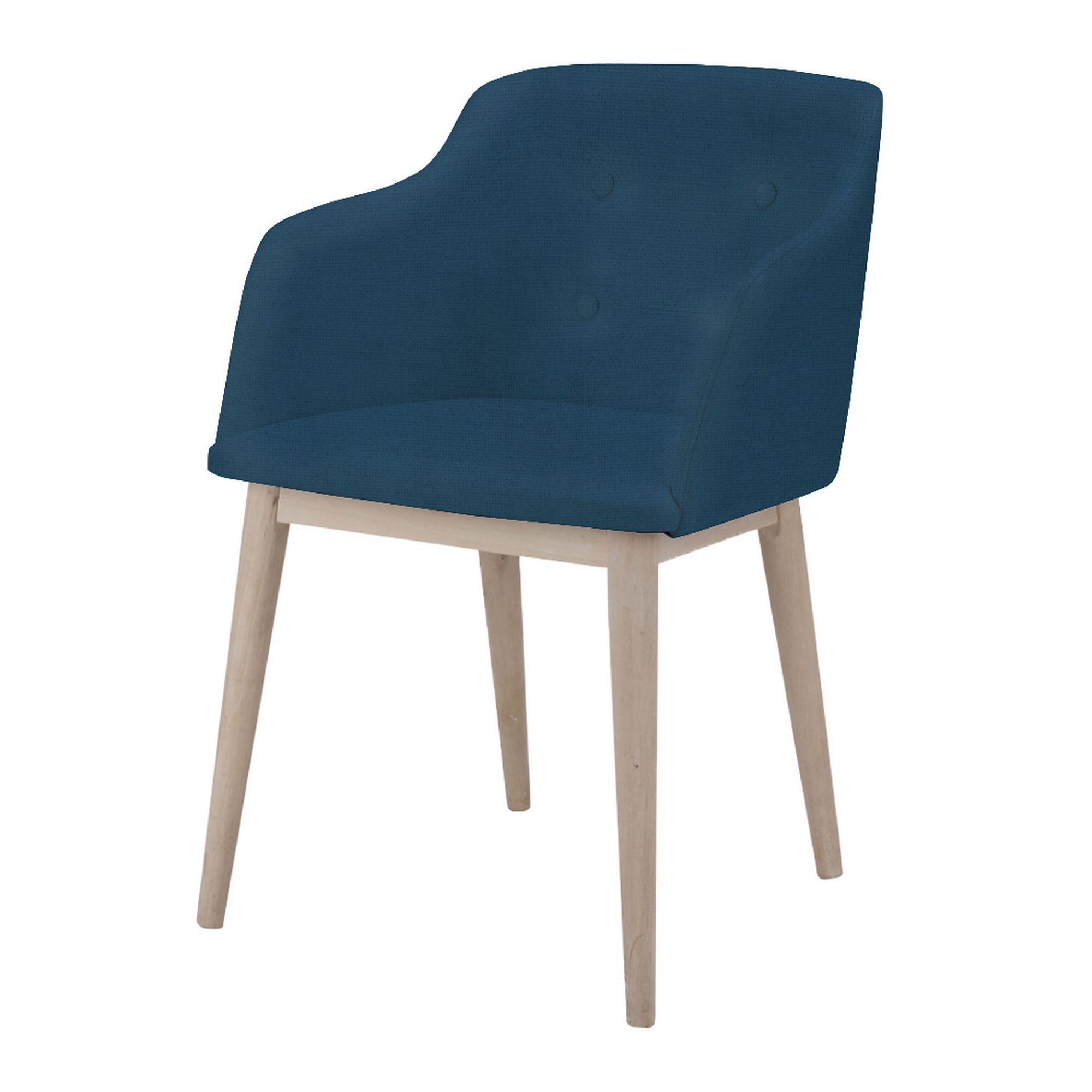 Chaise De Séjour Capitonnée Bleue Foncée Cork ChaisesTables - Chaise salle a manger confortable