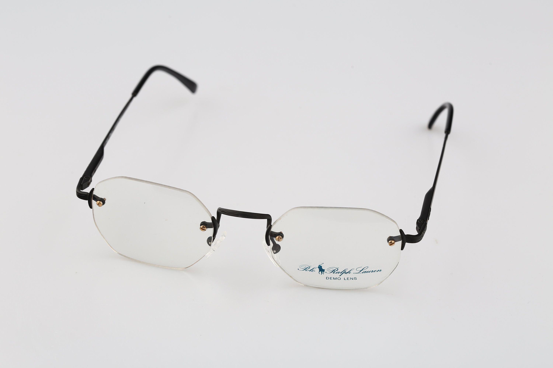 Polo Ralph Lauren Xi N 003 Vintage 90s Black Hexagon Rimless Etsy Vintage Eyeglasses Frames Vintage Eyewear Vintage Eyeglasses