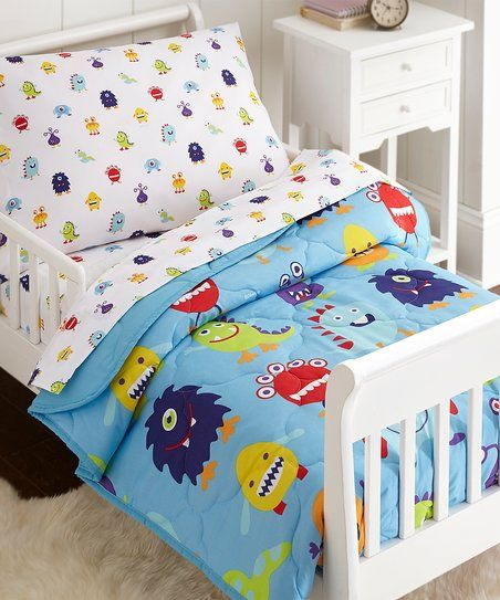 Wildkin Monsters Toddler Bedding Set Zulily Toddler Bed