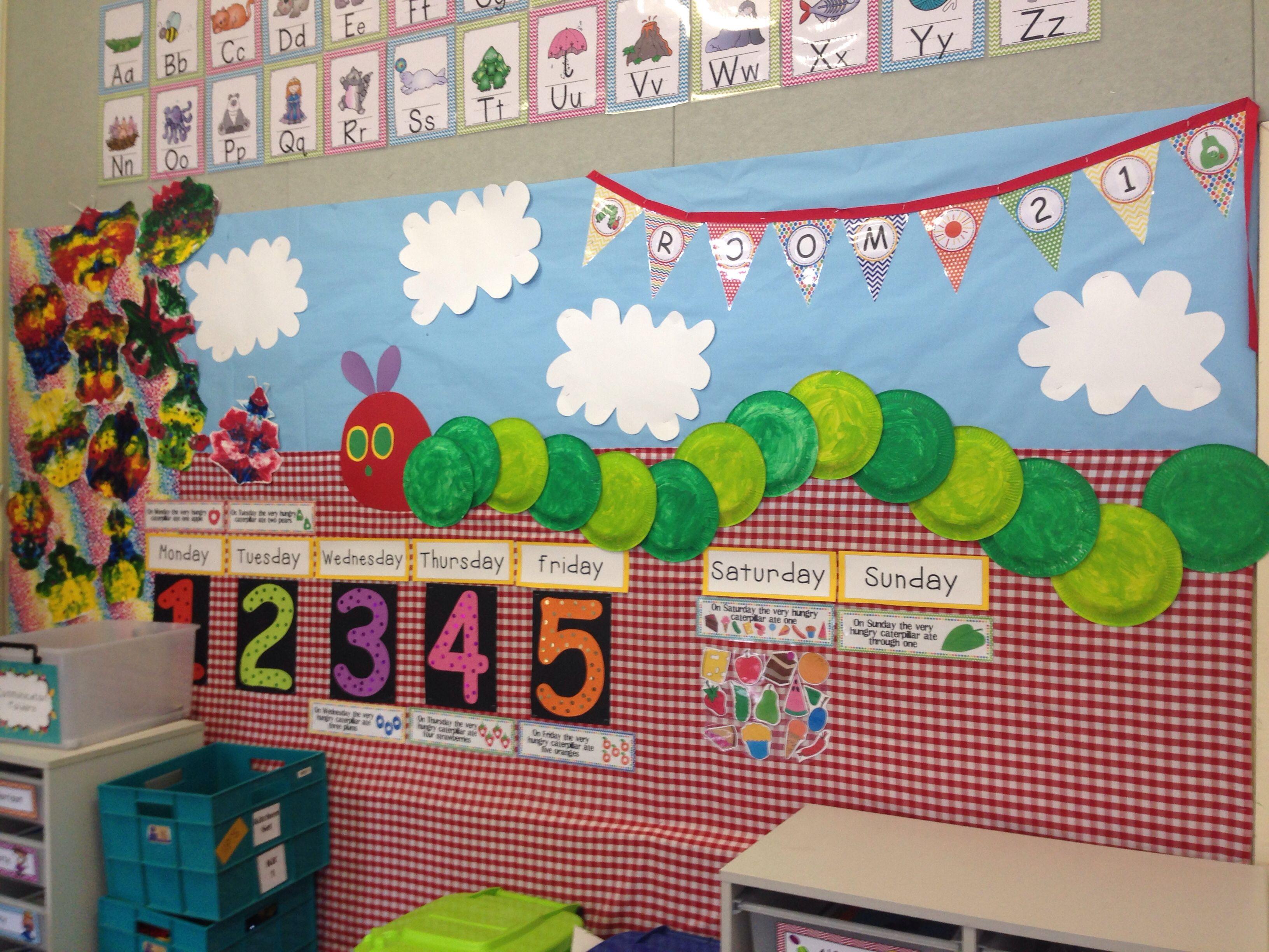 Classroom Display Ideas Kindergarten ~ The very hungry caterpillar display bulletin board